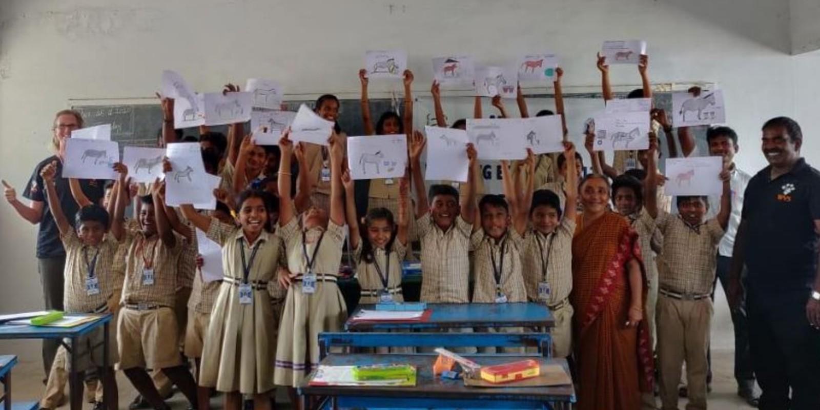 Lastesel in Indien