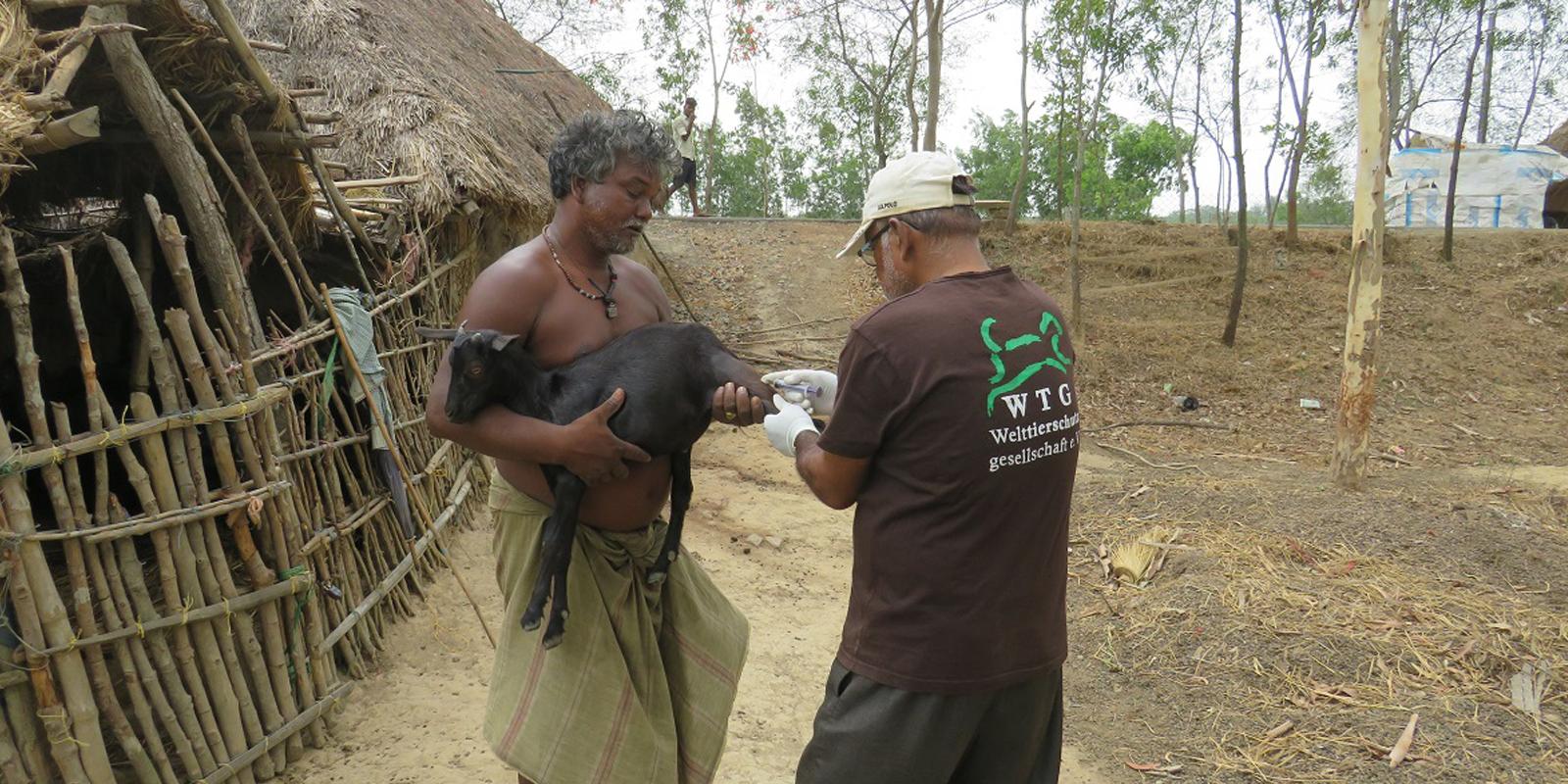 Mit dem mobilen tierärztlichen Service verbessern wir die tierärztliche Versorung von Nutztieren in den Gemeinden