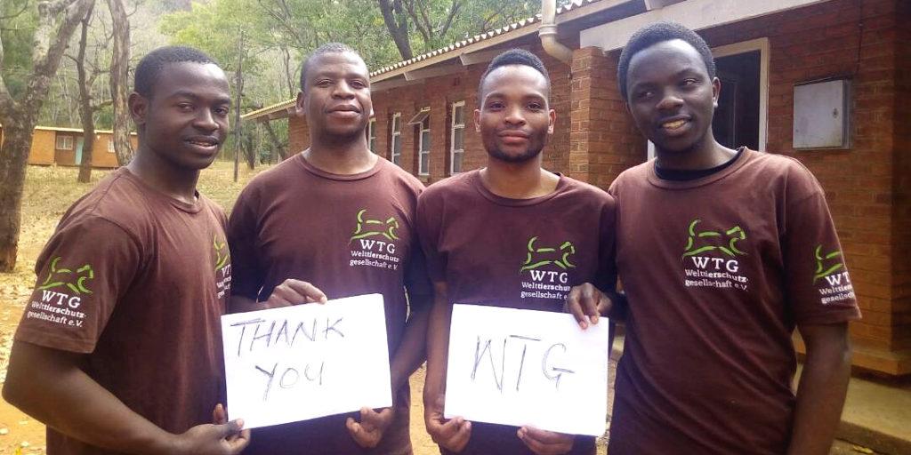 Thank you WTG! Stipendiaten bedanken sich bei der Welttierschutzgesellschaft