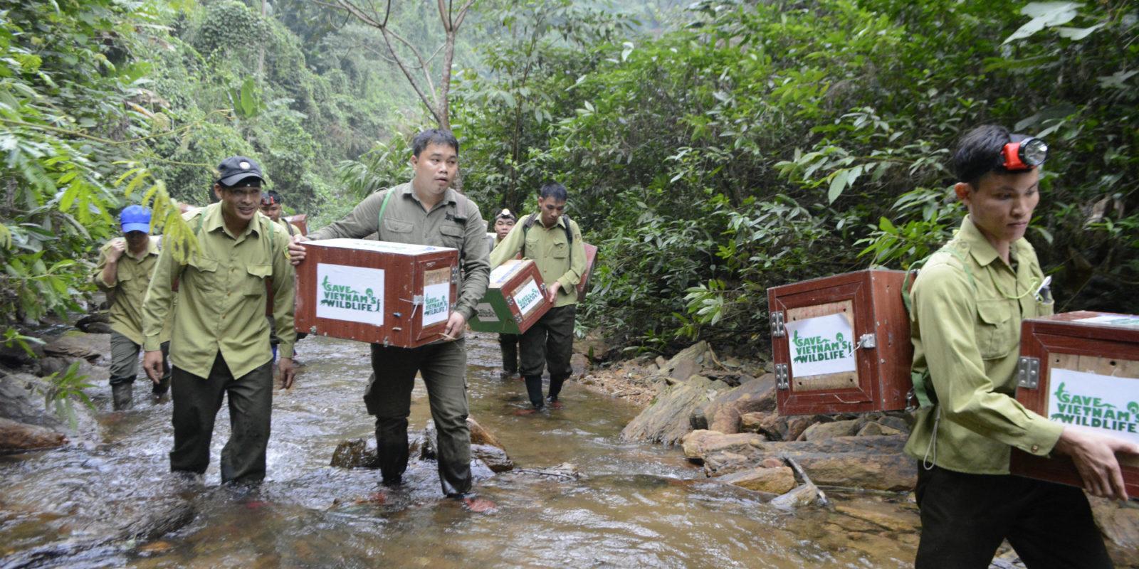 Unsere Partner auf dem Weg zum Ort der Auswilderung der Schuppentiere