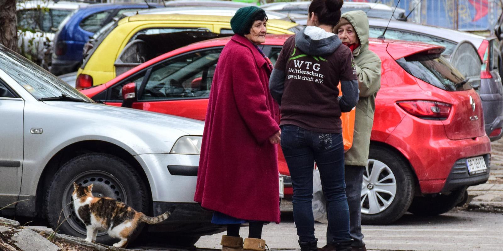 Stella Kuburova steht den Bürgern als Ansprechperson zur Verfügung und wirbt für die Belange der Katzen