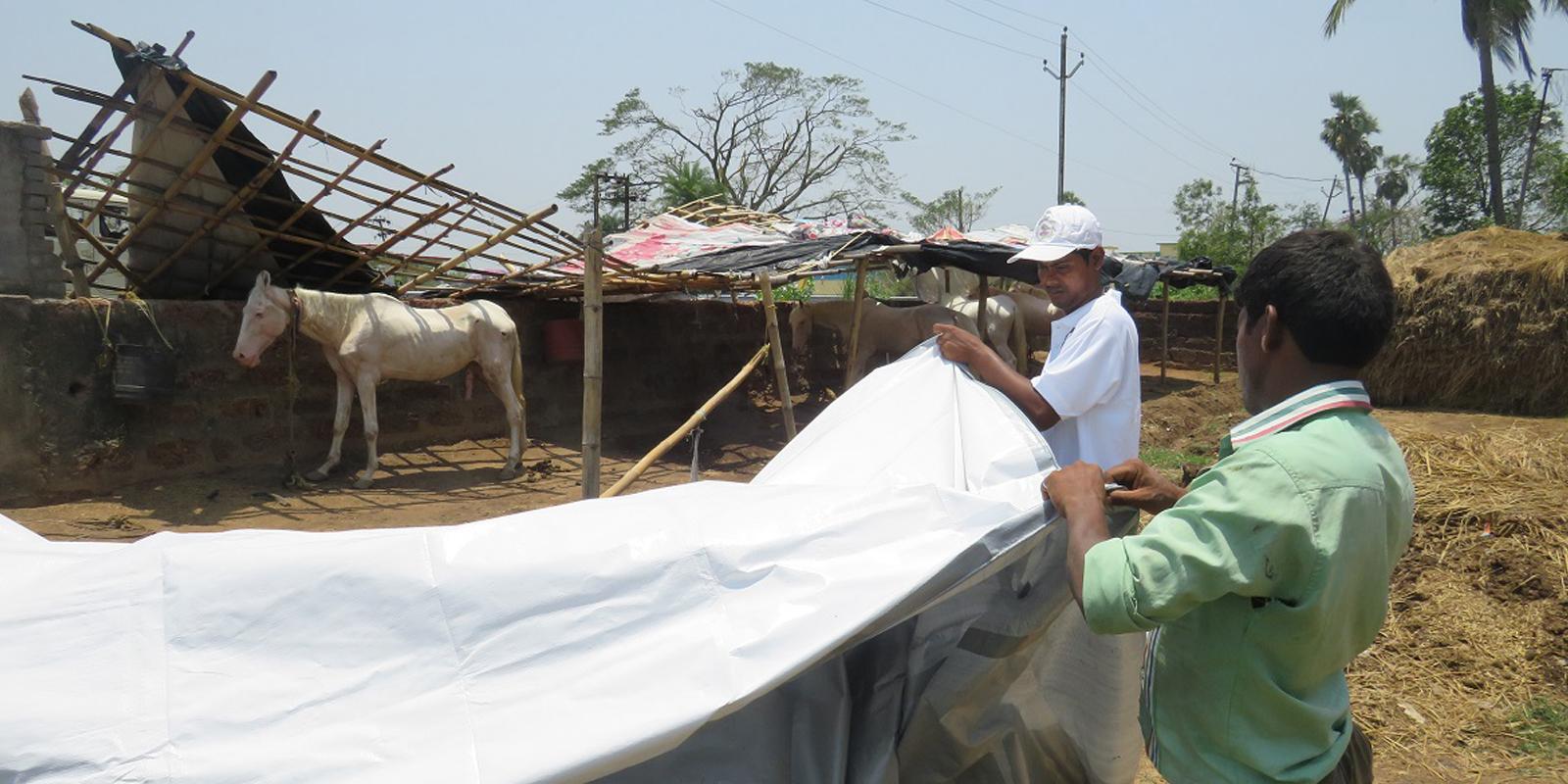 Soforthilfe in Bildern: Errichtung dringend notwendiger Untersände